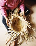 Bodj Small Floppy Basket hand weaving