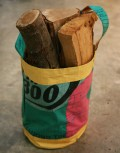 Bodj Green Recycled Log Bucket with logs