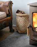 Bodj Small Floppy Basket with Charnwood C-Four stove